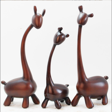 European style Modern abstract deer family resin home decoration miniature figurine for new year festival 3pcs/set