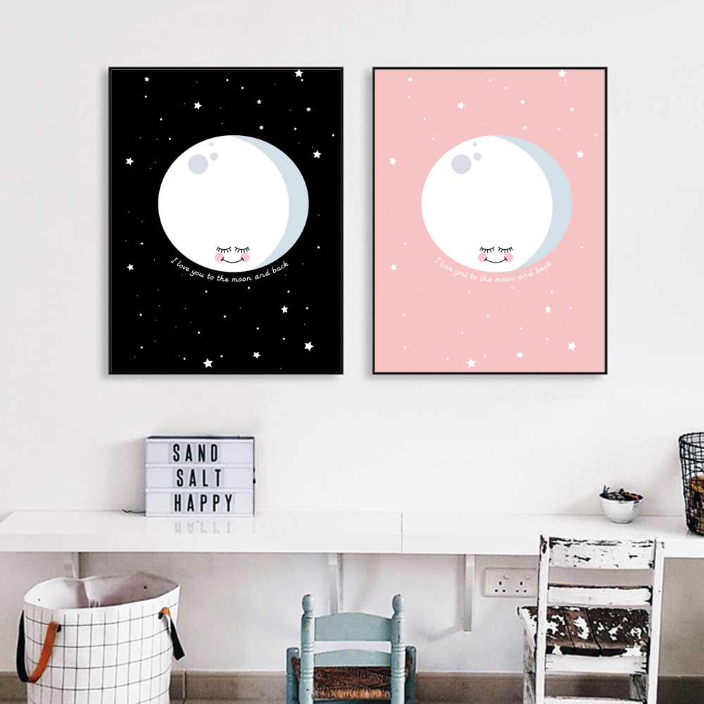 Modern Nordic Home Decor Kawaii Poster Cartoon on the Wall Pictures - Home Decor