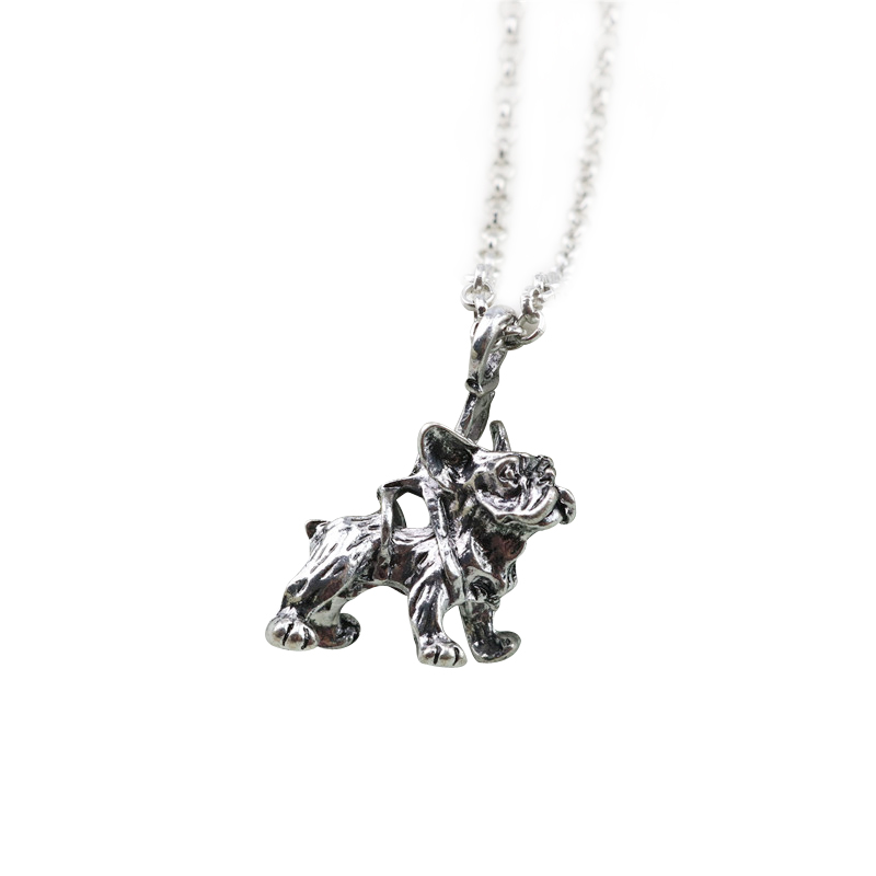 Vintage French Bulldog Necklaces & Pendants Dog Maxi Long NecKlace For Women Men Jewelry ...