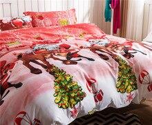 Christmas 3D Bedding Set Happy Santa Claus