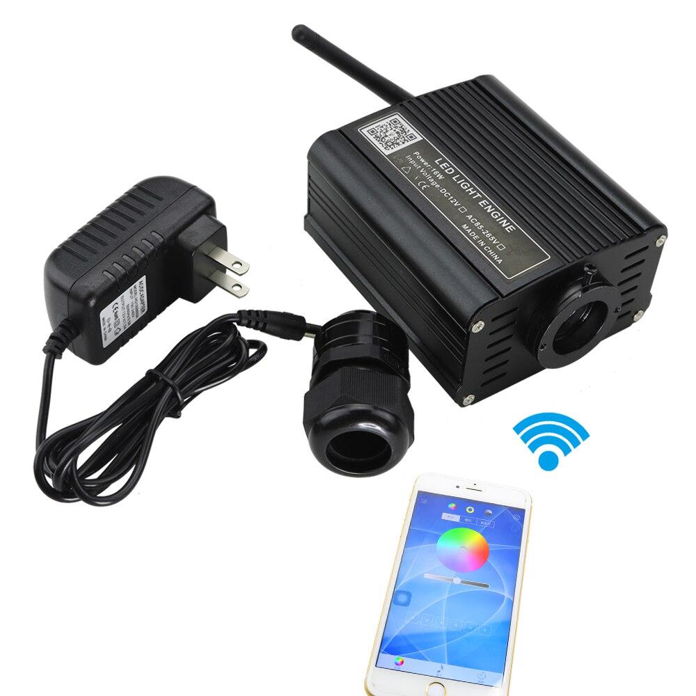 新しい 16 ワット RGB Led の光ファイバ光照明のための無線 Lan コントロールで SmartLife アプリによる電話  グループ上の ライト & 照明 からの 光ファイバライト の中 1