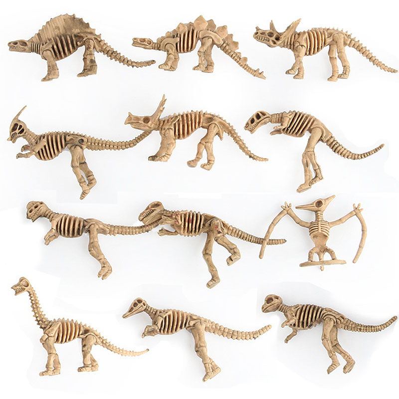 Hearty 120pcs/lot New Dinosaur Model Toys Archaeological Excavation Of Dinosaur Skeletons Education Toys Simulation Dinosaur Figures Customers First Toys & Hobbies