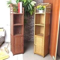 Rattan morango simples armário de armazenamento armário de cabeceira pequena estante rack de armazenamento estante canto gabinete de canto tel storage rack rack bookshelf bookshelf small -