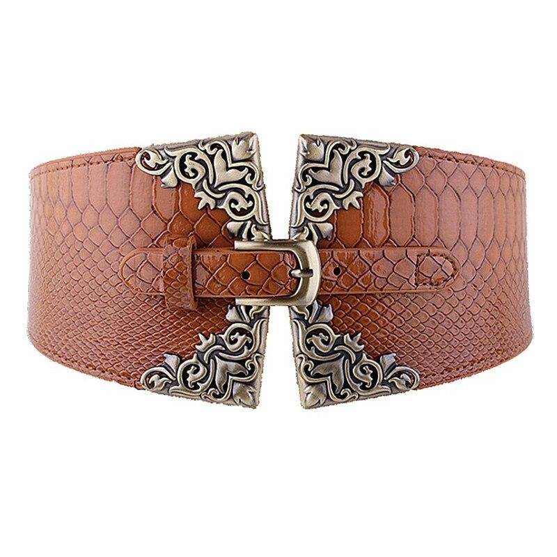 Fashion Crocodile Pattern Decorative Ladies Belt Classic Wild Minimalist Belt Straps Waistband For Apparel Accessories