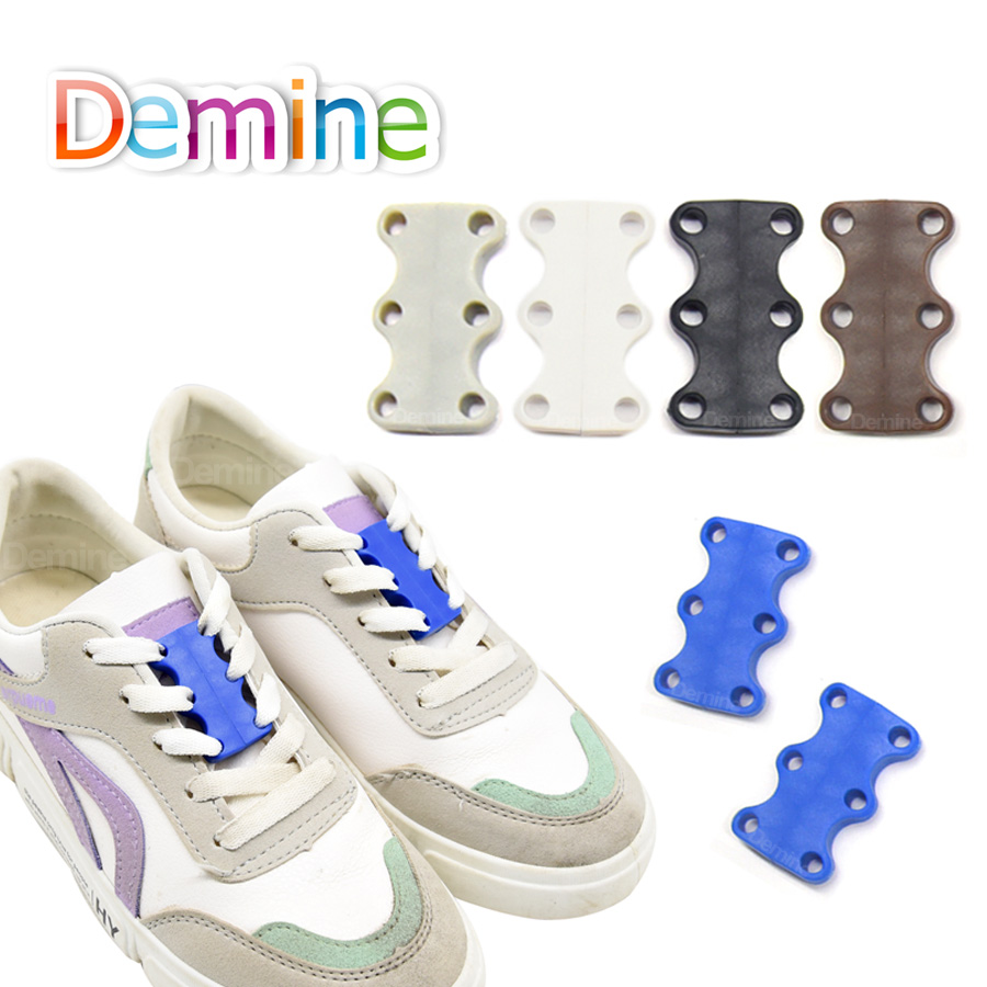 Demine Strong Quick Easy Magnetic Shoelaces For Sneakers Shoes Buckles Closure No Tie Shoelace BuckleDemine Strong Quick Easy Magnetic Shoelaces For Sneakers Shoes Buckles Closure No Tie Shoelace Buckle