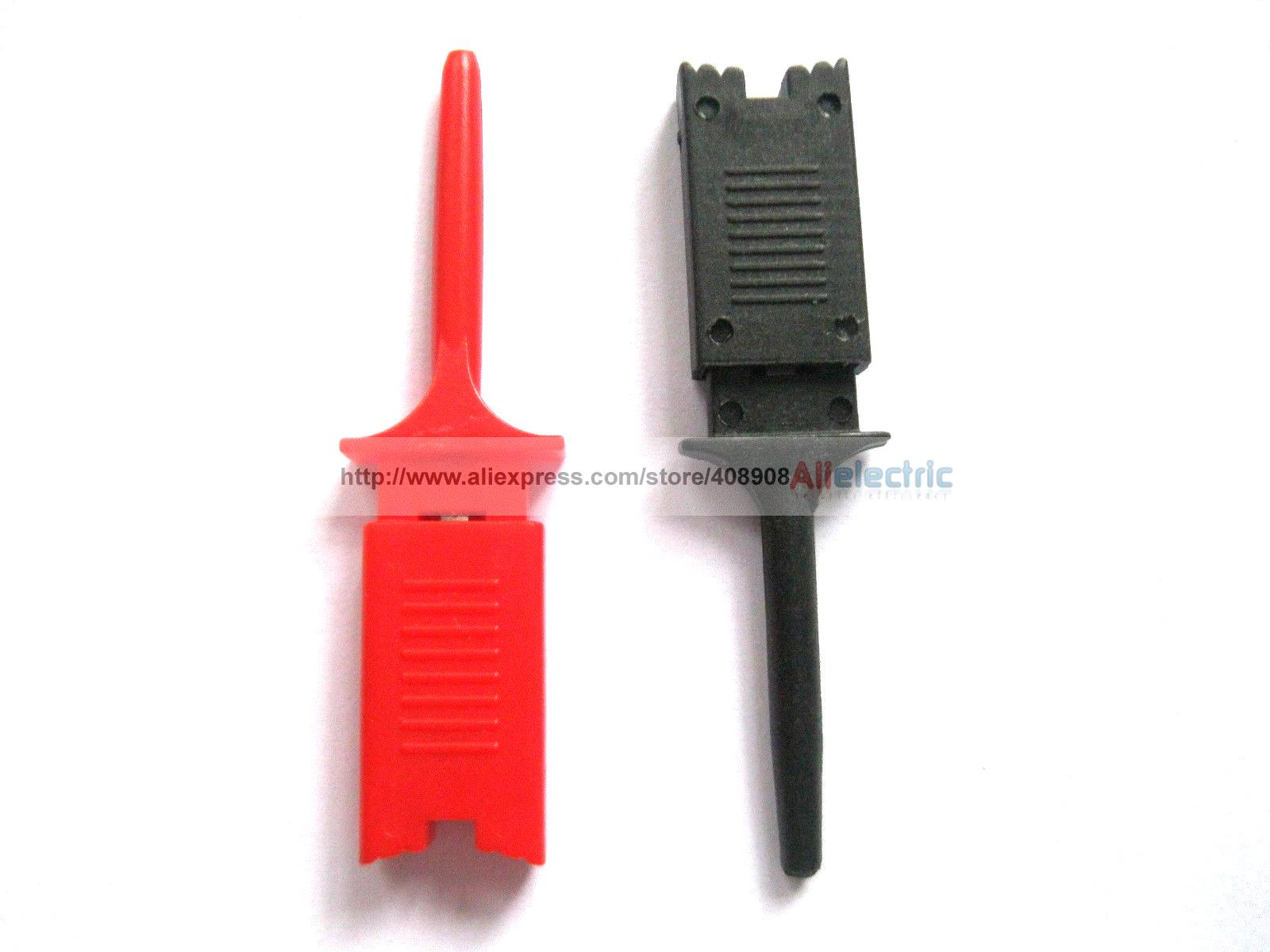 100 Pcs Flat Small Test Clip for Multimeter Red Black sop8 abs test clip black