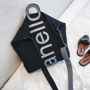 Image 4 - Grand sac à main en toile pour femmes, fourre tout, Portable, grande capacité, tendance pour femmes, nouvelle collection 2018