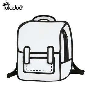 2d425b046c TuLaduo 3D Style Cartoon Backpack Student School Bags