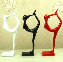Abstract Yoga Pose Figurine Decorative Resin Calisthenics Figure Statuette Sports Gift and Craft Ornament Accessories Furnishing