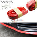 Universal Red Carbon Fiber Front Bumper Lip Splitter Chin Body Trim 2.5M (8ft)