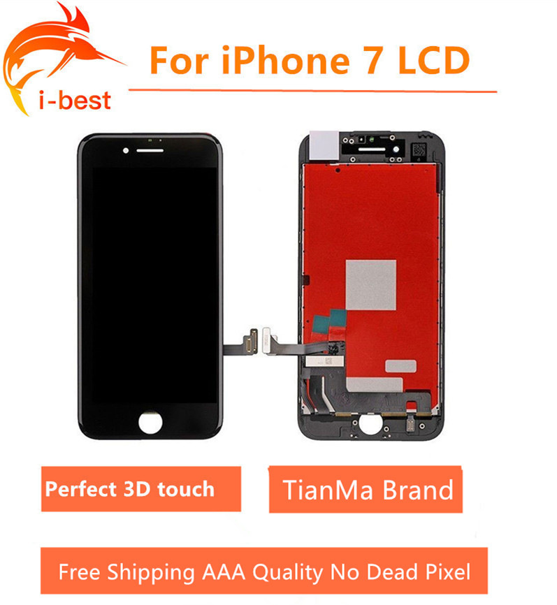 quality design 46cb4 e0052 US $195.0 |3pcs/lot For iphone7 LCD TianMa Assembly With 3D Touch Screen  Display Replacement No Dead Pixel For iPhone 7 LCD 4.7 Free dhl-in Mobile  ...