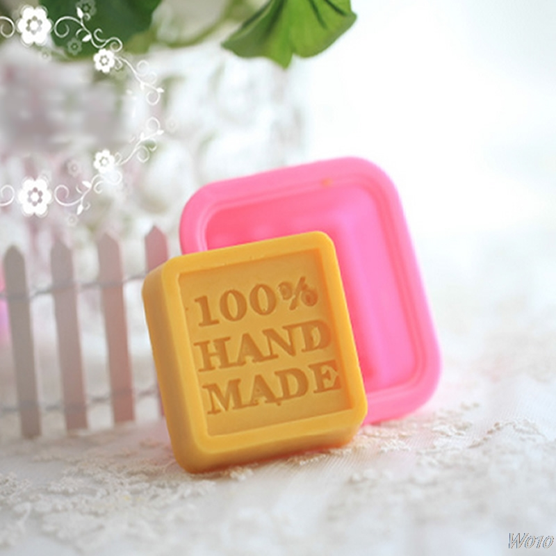 NEW 1PC 100% Hand Made Silicone Soap Molds Making Mould DIY Rectangle Stand-W110