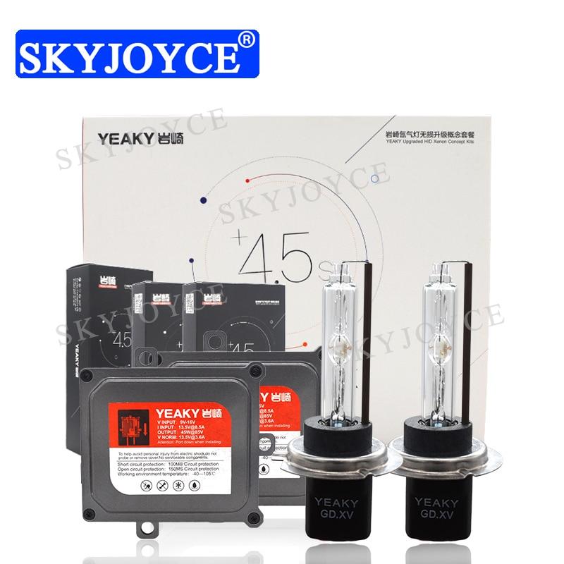 SKYJOYCE 12V 45W Yeaky Fast Bright HID Kit Original Yeaky HID Bulb 5500K H1 H7 H11