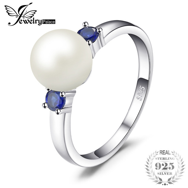 JewelryPalace 8mm Freshwater Cultured Pearl Ring 925 Sterling Silver waR23jHMsc