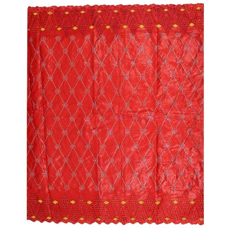 Tela de alta calidad 3 yardas de tela africana bazin riche getzner + 2 yardas de tela de encaje nigeriano de brocado b2 Z9-in encaje from Hogar y Mascotas    2