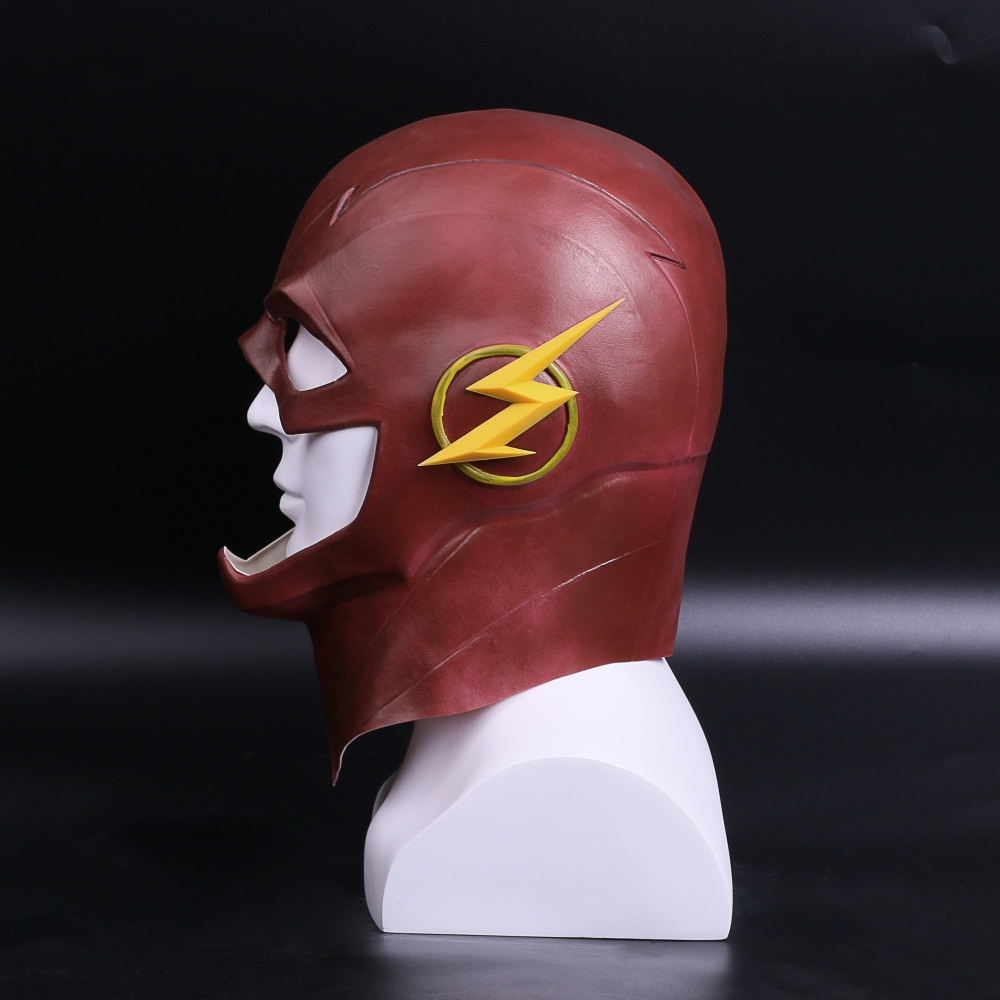 The Flash Mask DC Barry Allen Mask Cosplay Costume Prop Halloween Full Head Latex Party Masks (4)
