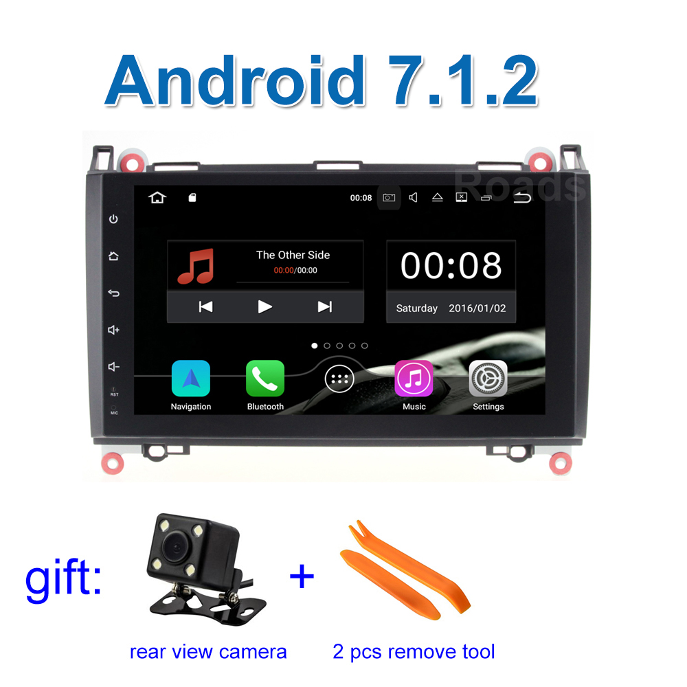 2 GB RAM Android 7.1 Car DVD Radio for Mercedes/Benz A/B Class B200 B170 W245 W169 W209 Viano Vito VW Crafter with wifi BT GPS eunavi 2 din android 8 0 octa 8 core car dvd player for benz sprinter vito w169 w245 w469 w639 b200 radio stereo gps wifi 4g ram