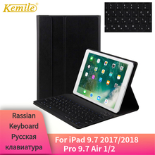 Russian Keyboard For iPad 9.7 2018 2017 Case Bluetooth Keyboard Ultra Slim Stand Cover For iPad Air 1/2 Pro 9.7 Case keyboard ultra slim shell abs plastic folio wireless bluetooth keyboard carrying stand case cover for apple ipad air 2 ipad 6 9 7inch