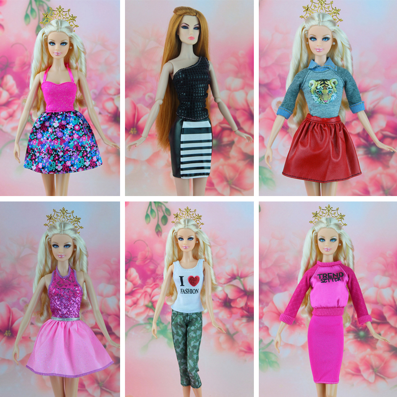 16 piece / lot Fashion clothes for barbie doll the casual