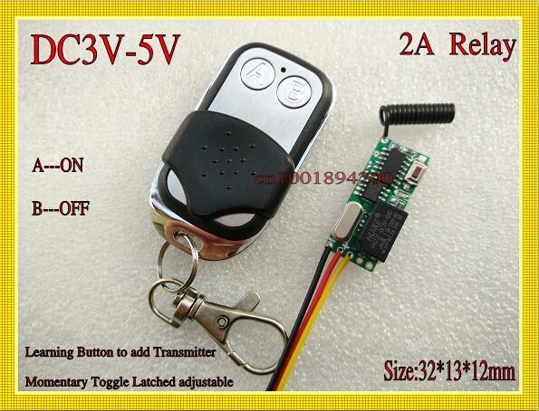 Aliexpresscom Buy DCV V CH Mini Relay RC Transmitter - Rc car relay switch