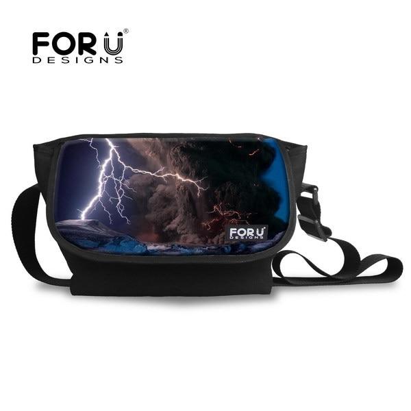 1bb49d9c3e1d FORUDESIGNS Large Capacity School Shoulder Bag Lightning Pattern Men s Messenger  Bags Teenager Boys Casual Crossbody Student Bag
