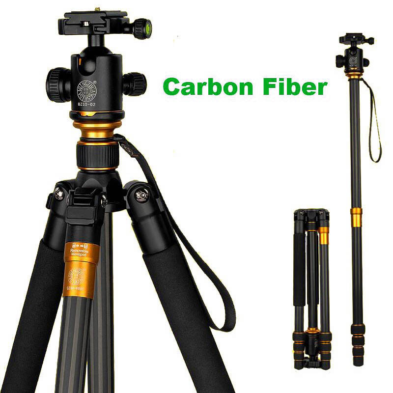 New Original QZSD Professional Carbon Fiber DSLR Camera Tripod Monopod+Ball Head/Portable Photo Camera Stand/Better than Q999 free shipping qzsd q999 portable tripod