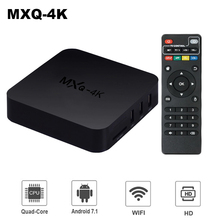 MXQ-4K Smart TV Box Android 7.1 Allwinner H3 Quad Core 1GB 8GB H. 265 4k Media Player 2.4Ghz Wifi 100M LAN 3D Set Top box PK R69