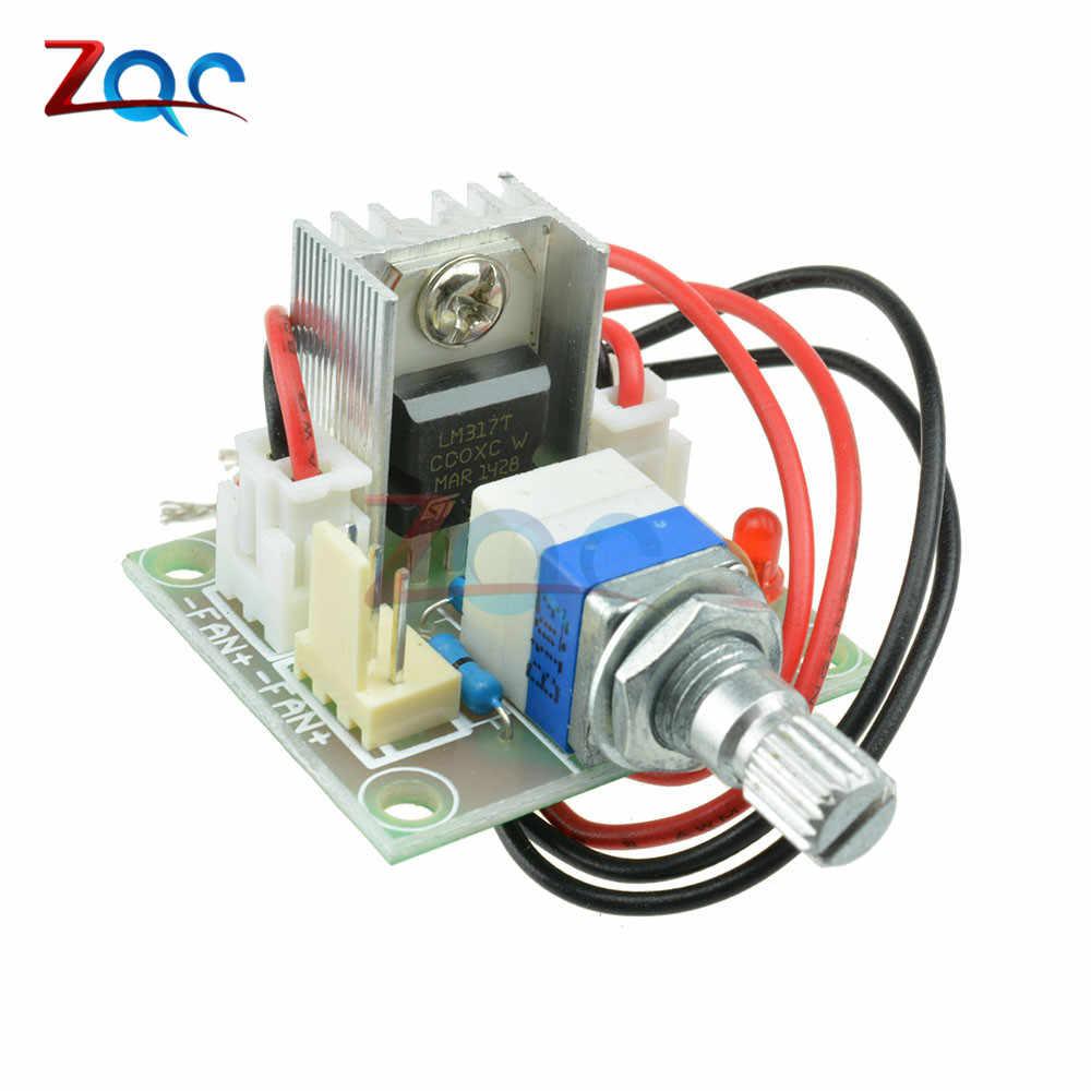 LM317 DC Линейный преобразователь подпушка Напряжение плата регулятора Модуль управления скоростью
