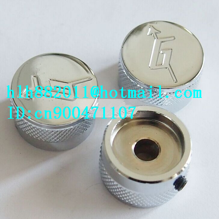 free shipping new electric guitar  tone and  volume metal adjustable electronic Control Knobs cap   DM-8076 free shipping new electric guitar and bass 2 a250k 2 b250k big tone and volume electronic dr 8159