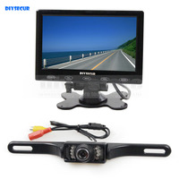 DIYKIT DC 12V 7 Inch Touch Button Ultra Thin Screen Car Monitor IR Night Vision Rear