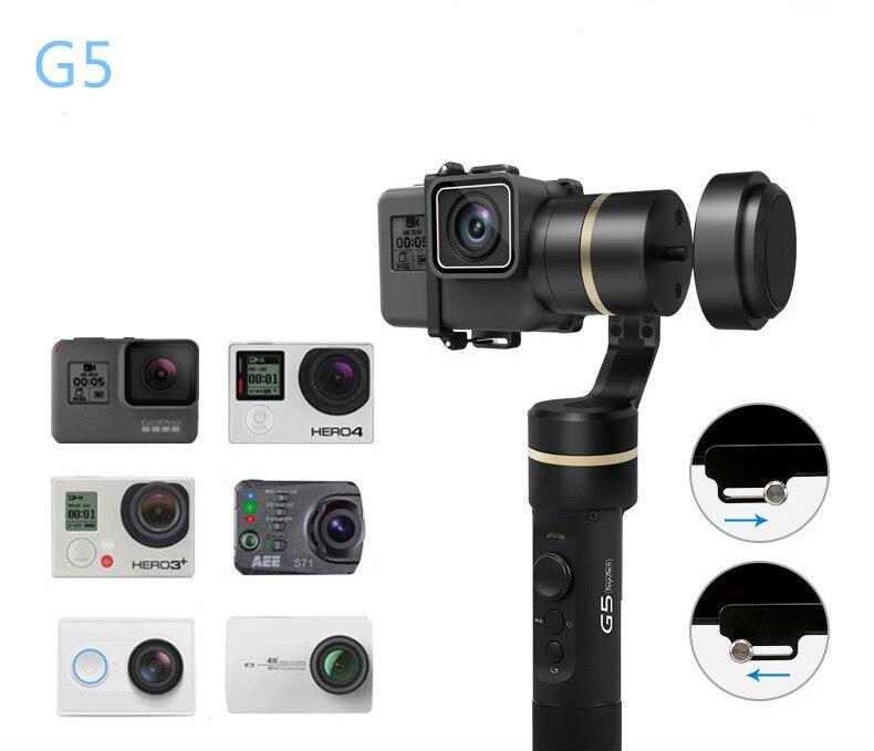 Feiyu G5 cardan de poche 3 axes V2 pour GoPro HERO5 5 4 Xiaomi yi 4 k SJ AEE Action cames anti-projections contrôle Bluetooth