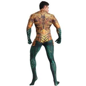 Image 5 - Deluxe סופרמן Aquaman קוספליי תלבושות למבוגרים גברים ליגת צדק Superhero סרבל ליל כל הקדושים תלבושות גברים מבוגרים