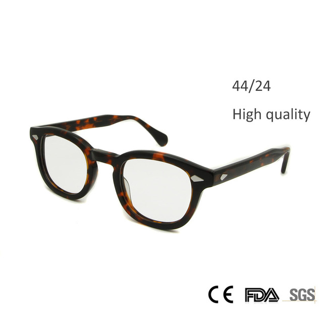 de3c7fb4092 New High Quality Johnny Depp Glasses Fashion Style Round Retro Vintage  Glasses Frame Men Hand Made