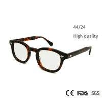 Nova Alta Qualidade Johnny Depp Óculos Moda Estilo Retro Rodada óculos Vintage Óculos de Armação Homens Feitas À Mão Óculos oculos de grau