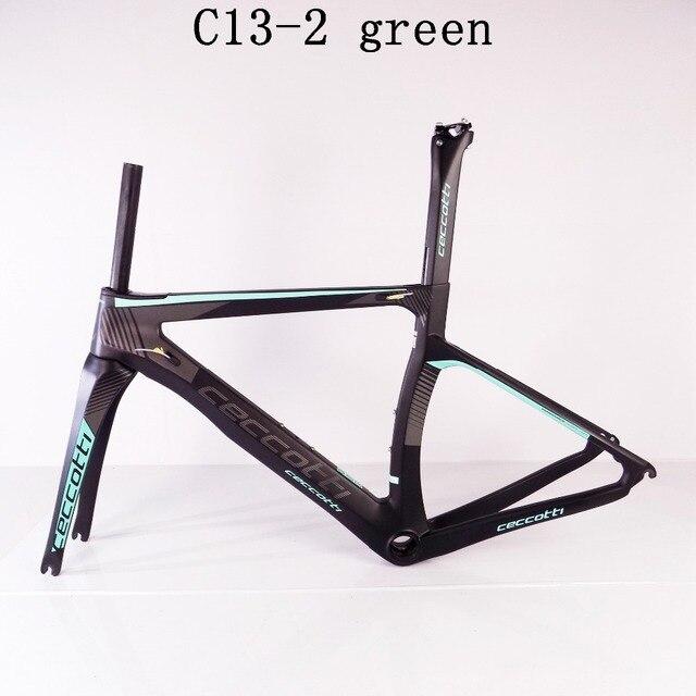 65925ca7bee Ceccotti C13-2 green 3k/1K Toray T1100 road bike frame carbon PF30/BSA/BB30  frame road carbon china 2 years warranty