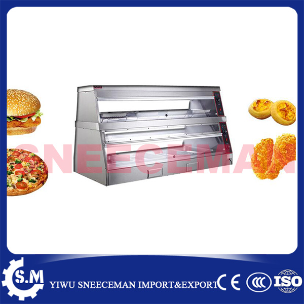1.5m 2layer warming display showcase high quality electric food warmer display 1 2m food warmer displayer cheaper warming showcase for sale