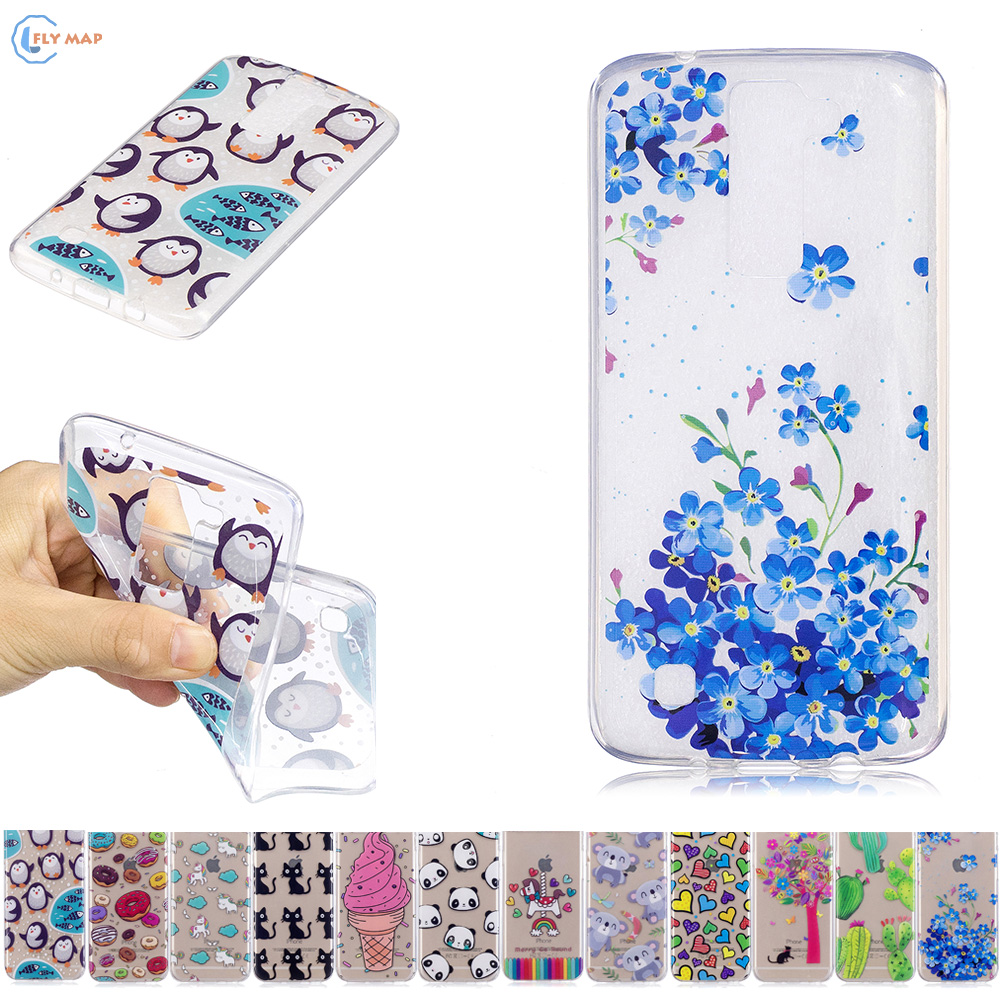 Fitted For LG K8 4G LTE K 350 K350Y 350N K350K Soft TPU Unicorn Cat Mobile Phone Case For LG K 8 LGK8 K350N K350 E K350E Cases
