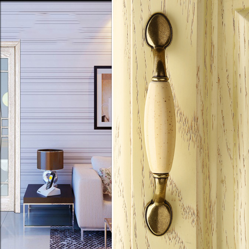 2 Шт Бежевые керамические дверные ручки античные шарообразные ручки для мебели кухонный шкаф шкафы выдвижной ящик ручки лаконичные ручки для ящиков