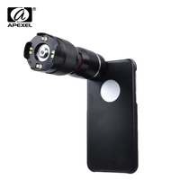 Apexel LED Microscope 400X Zoom Magnifier Micro Mobile Phone Camera Lens For iPhone x 7 8 6 plus For Samsung S8 plus s7 edge