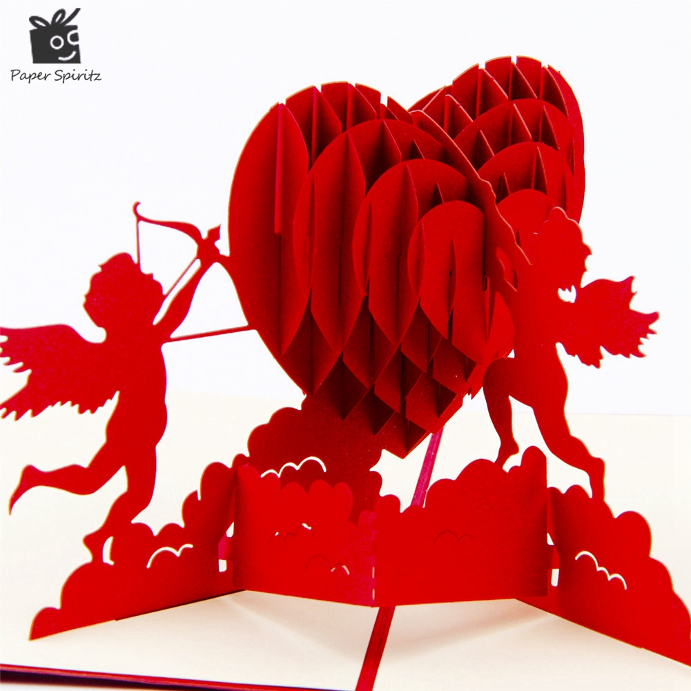 3D Pop Up Birthday Greeting Postcards Gift Cards Custom Laser Cut Heart Blank Vintage Invitation Mariage Love Letters Messages 26 pcs in one postcard love you from a to z love letter romantic love christmas postcards greeting birthday cards 10 2x14 2cm