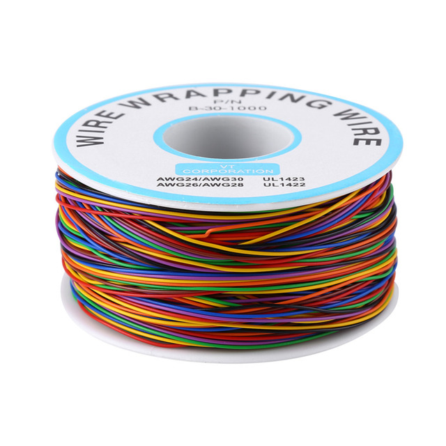 Colorful P/N B-30-1000 280M Wire Cable 8-Wire Colored Insulation Wrapping Copper Test Cable Electric Tin Plated Copper Cable Hot