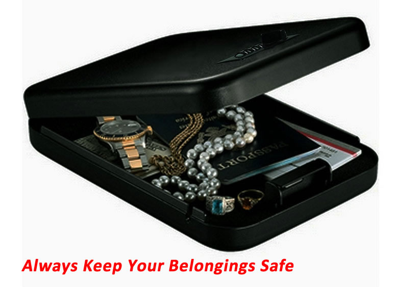 Safe Box Solid Steel Security Key Gun Valuables Jewelry Box Protable Security Biometric  ...