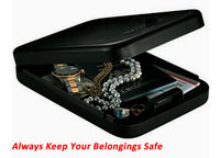 Safe Box Solid Steel Security Key Gun Valuables Jewelry Box Protable Security Biometric Fingerprint Safes Strongbox