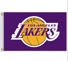 Los Angeles Lakers Flag 3×5 FT 150X90CM Banner 100D Polyester NBA flag , free shipping
