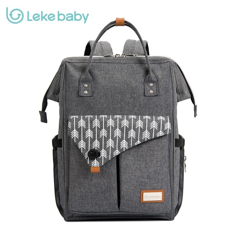 Lekebaby Stroller Baby Diaper Bag Nappy Bay Maternity Bag Organizer Waterproof Bag Travel Tote Large Capacity Handbags Fo Mummy