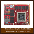 Marca original placa gráfica para dell alienware m17x ati hd4870 1 gb placa de vídeo gpu 109-b87631-00 substituição testado