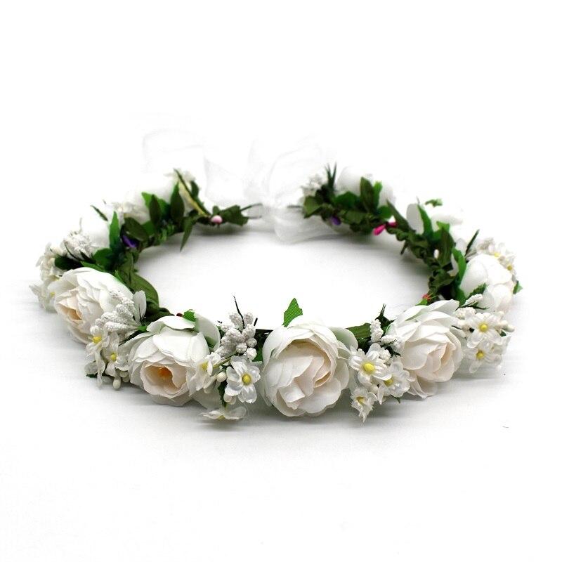 Lanxxy Women Flowers Crown Headbands