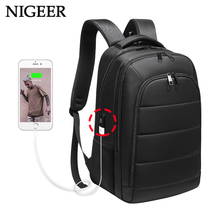 Купить с кэшбэком 15.6 inch Laptop Backpack USB Charging for Male Mochila Travel Bags Water Repellent for Men Teenage Girls Backpacks School n0001
