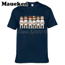 Men's tennising legends Jimmy Connors Bjorn John McEnroe Andre Agassi Pete Sampras Roger Federer Borg T-shirt tee W0523008 все цены