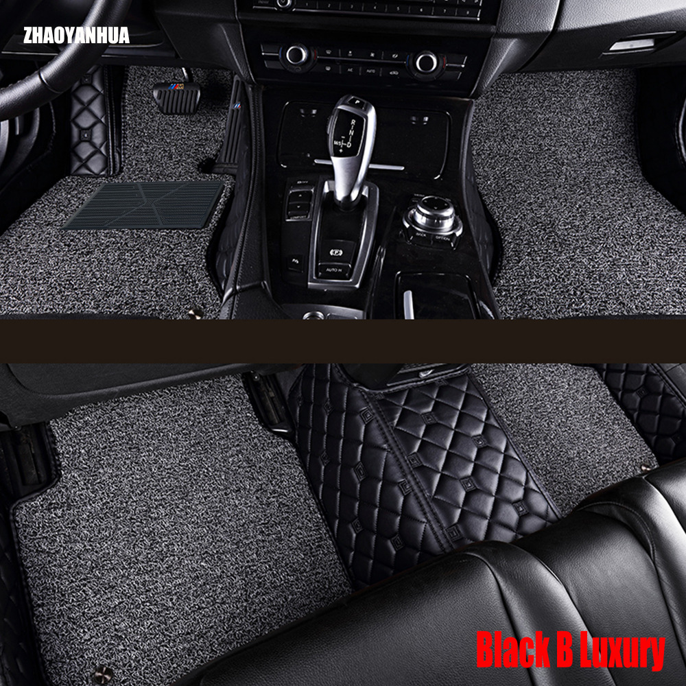 Zhaoyanhua car floor mats for honda city 4th 5th 6th generation 5d all weather car styling carpet rugs floor liners 2003 now